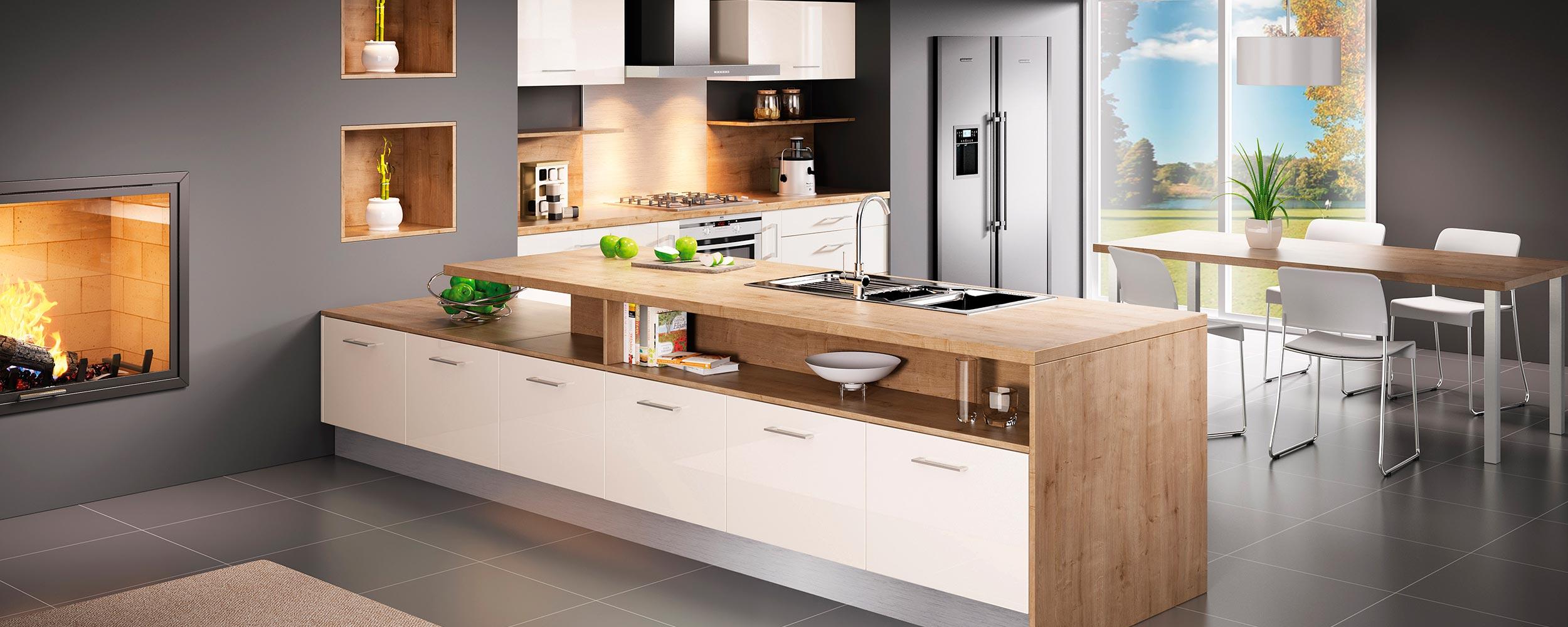 idea cuisines modèle platine ivoire