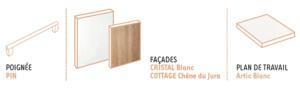 configuration cristal blanc et cottage chêne du Jura