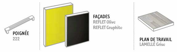 configuration reflet olive et graphite